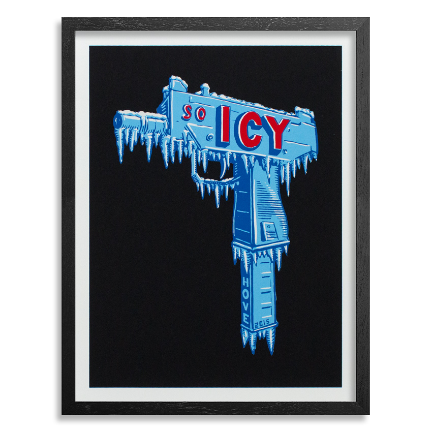 Scott Hove Art Print - So Icy - Black Edition