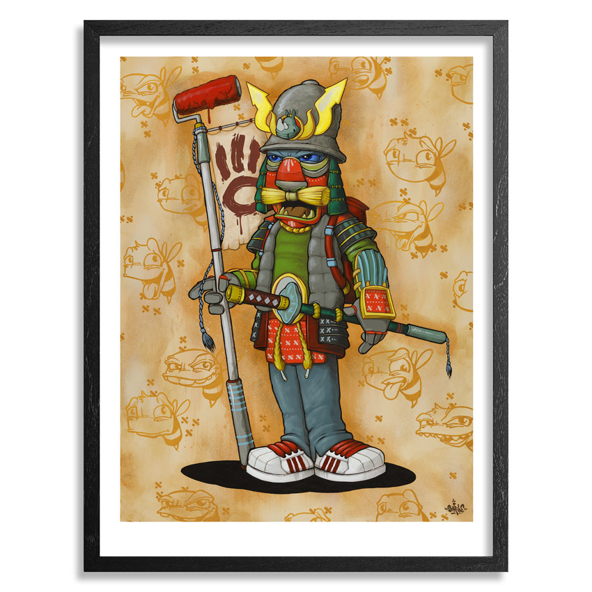 Scribe Art Print - Graffiti Samurai - Limited Edition Prints
