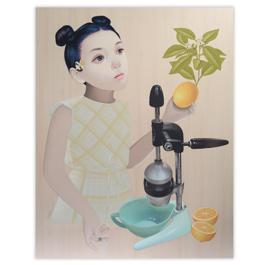 Sean Mahan Original Art - Girl and Juicer