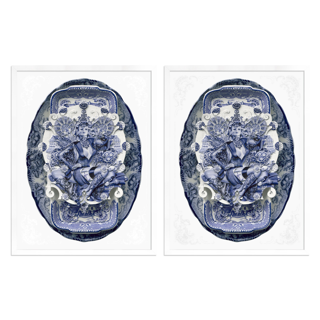 Handiedan Art - 2-Print Set - Bollywood Sugar In Blue