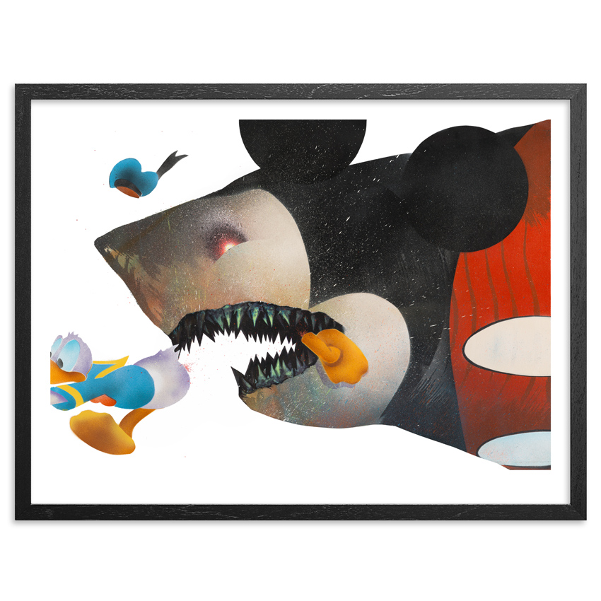 Shark Toof Art Print - Cici N'est Pas Une Mickey Mouse - Framed