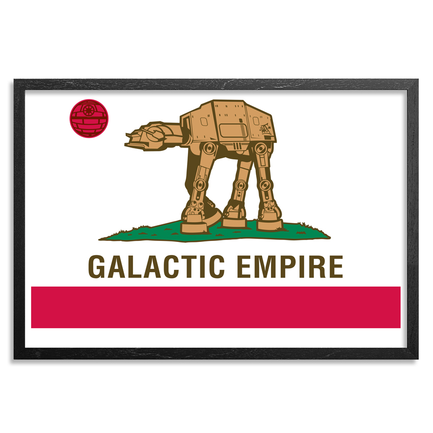 Sket One Art - Galactic Empire - Framed