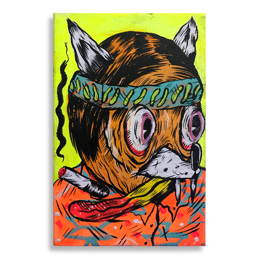 Spencer Keeton Cunningham Original Art - Young Dog