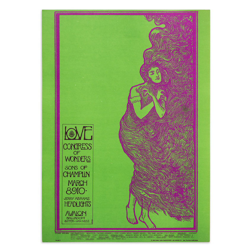Mouse! Studios Art Print - Love - Congress of Wonders - Avalon Ballroom - March 1968