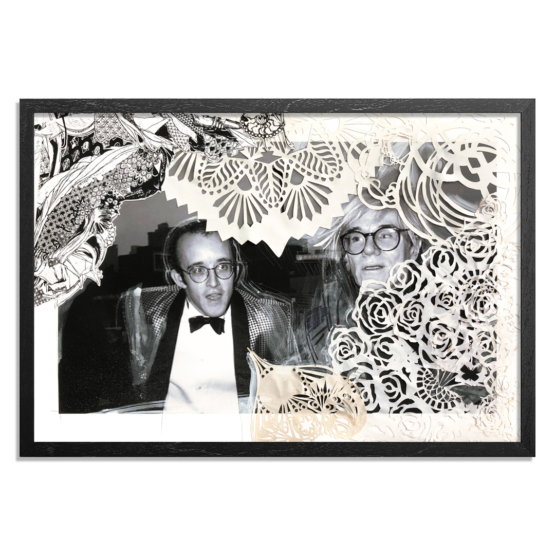 Swoon Art Print - Honoring Our Foregoers & Their Idols - Keith Haring & His Idol Andy Warhol. NYC. 1986