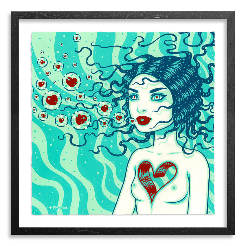 Tara McPherson Art Print - Drift - Hand-Embellished Edition