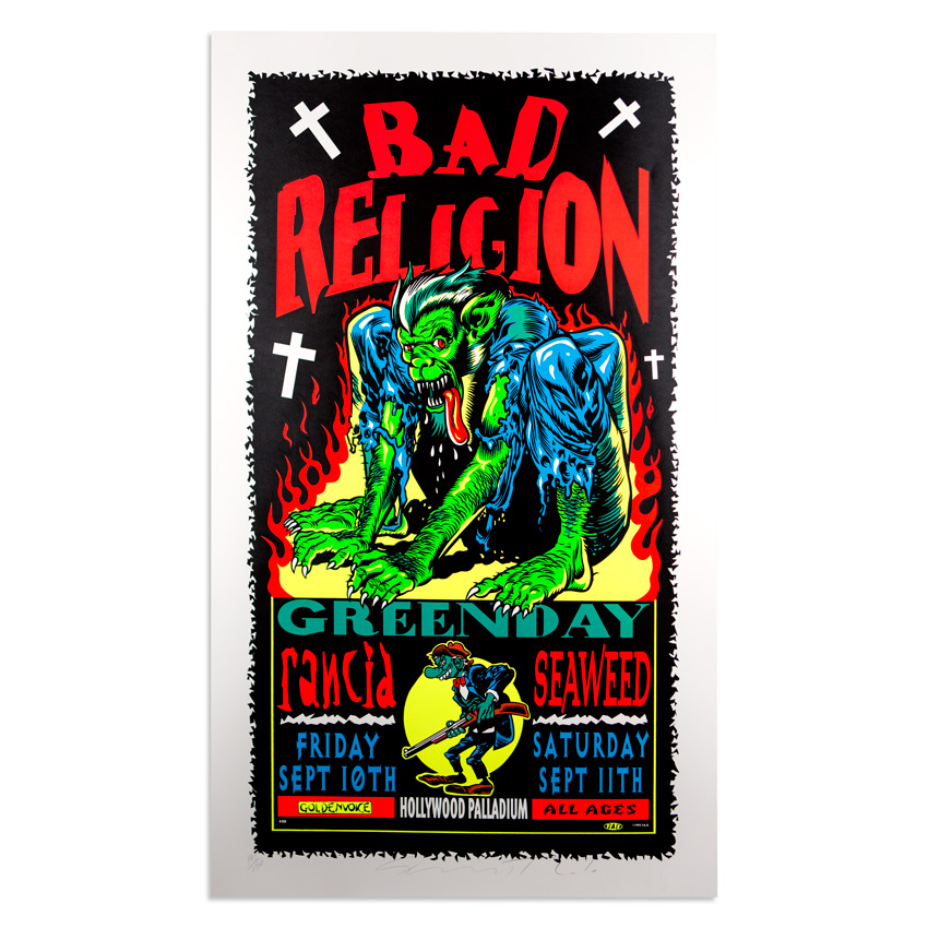 Jim Evans / Taz Art - Bad Religion - September 10th and 11th at The Hollywood Palladium