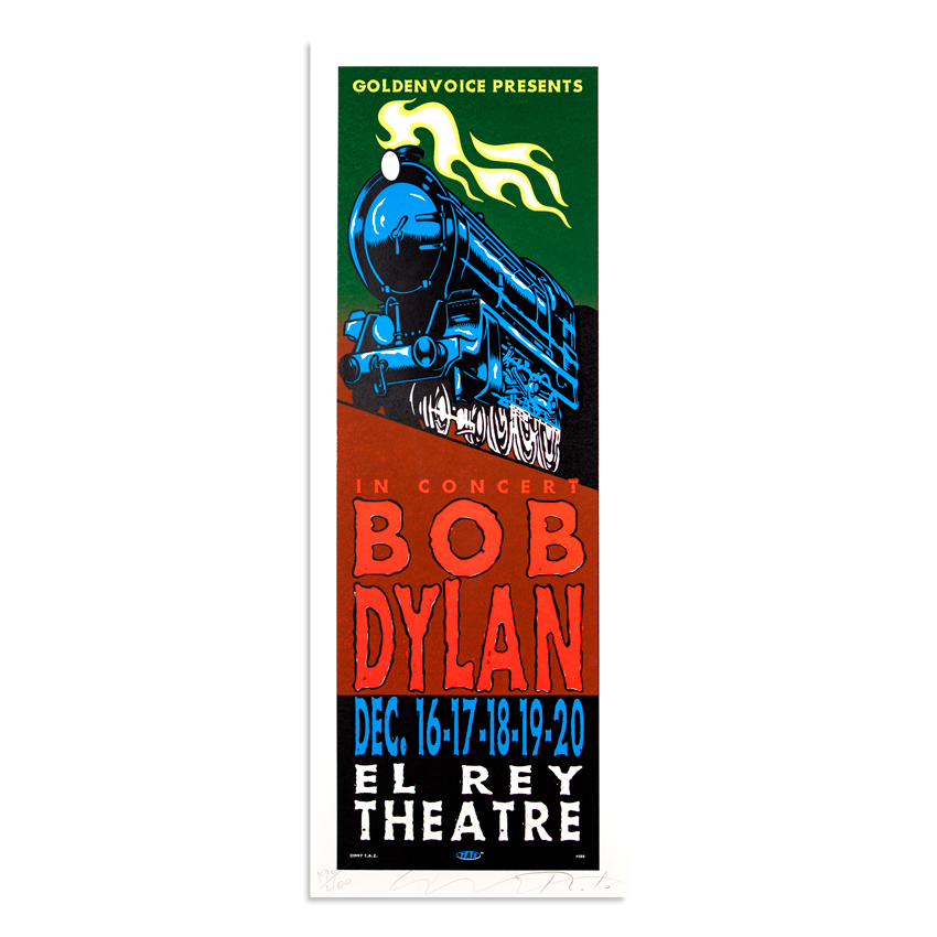 Jim Evans / Taz Art - Bob Dylan - December 16th & 20th at El Rey Theatre