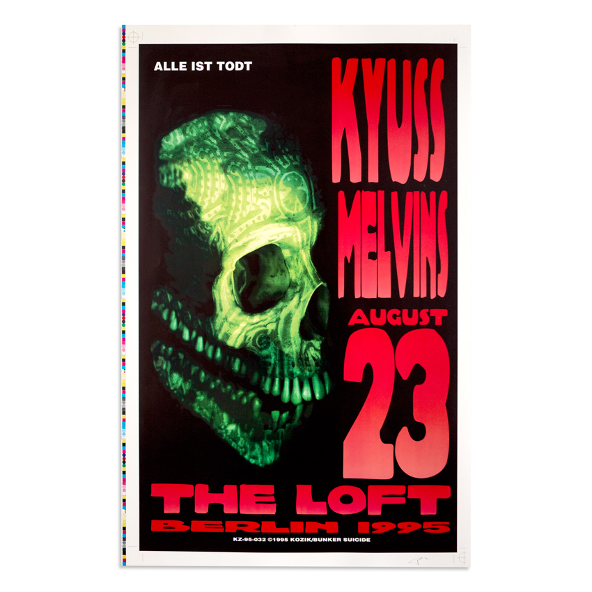 Kozik Art - Kyuss and The Melvins - August 23rd, 1995 at The Loft