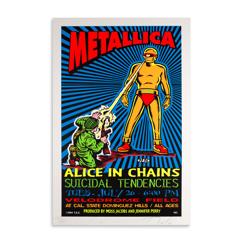 Jim Evans / Taz Art - Metallica, Alice In Chains & Suicidal Tendencies July 26th 1994 at Velodrome Field