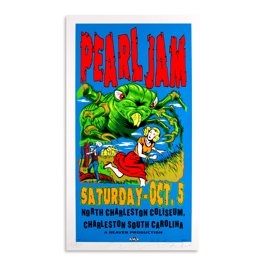 Jim Evans / Taz Art - Pearl Jam - October 5th at North Charleston Coliseum, Charleston SC