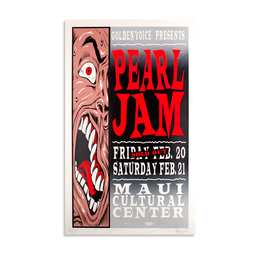 Jim Evans / Taz Art - Pearl Jam - Feb. 20 & 21 at the Maui Cultural Center