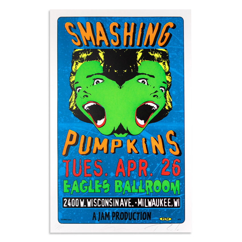 Jim Evans / Taz Art - Smashing Pumpkins - April 26th, 1994 at The Eagles Ballroom