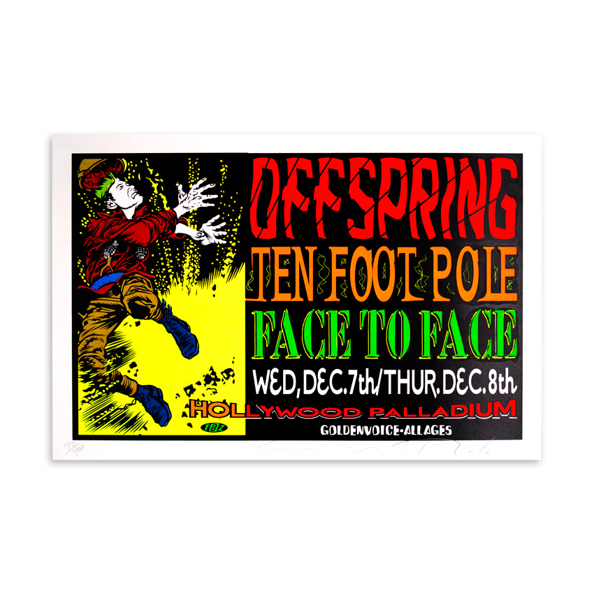 Jim Evans / Taz Art - The Offspring with Ten Foot Pole Dec. 7-8th 1994 at the Hollywood Palladium Hollywood CA