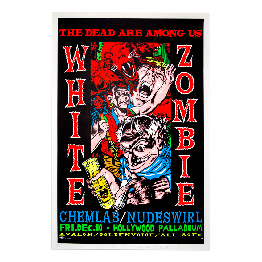 Jim Evans / Taz Art - White Zombie - December 10th, 1993 at The Hollywood Palladium