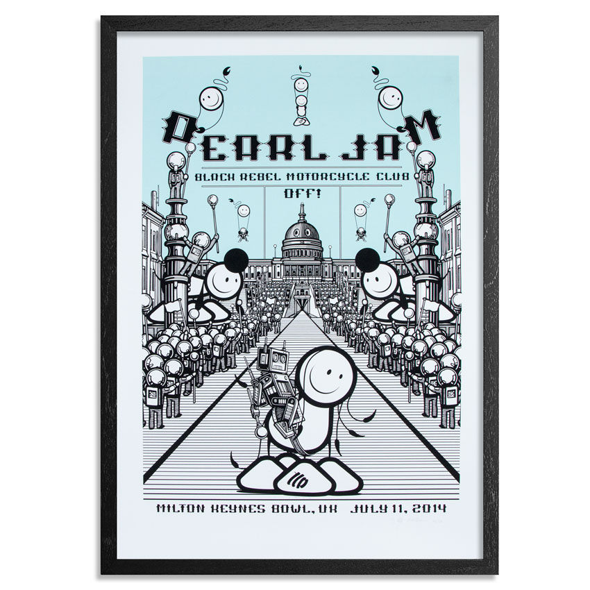 The London Police Art Print - Pearl Jam Milton Keynes<br>