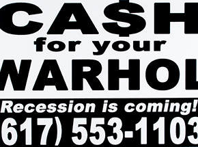 Art Print by Cash For Your Warhol - Recession Is Coming! - White Edition