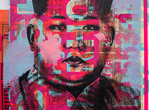 Art Print by Cash For Your Warhol - Monoprint I - CFYW Kim Jong-un