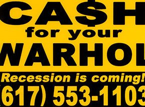 Art by Cash For Your Warhol - Recession Is Coming! - Yellow Edition