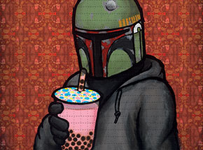 Art Print by Luke Chueh - Boba - Something In The Tea - Blotter Edition