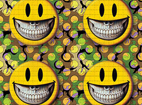 Art Print by Ron English - Grin - Blotter Edition