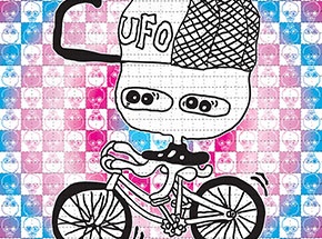 Art Print by UFO 907 - Bicycle - Blotter Edition