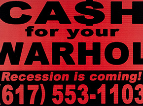Art Print by Cash For Your Warhol - Recession Is Coming! - Red Edition