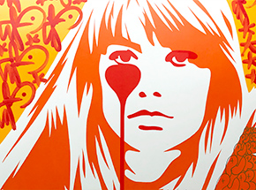 Art Print by Pure Evil - 04 Hand-Finished Variant - Françoise Hardy - Jacques Dutronc's Nightmare - Endless Summer Edition