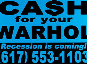 Art Print by Cash For Your Warhol - Recession Is Coming! - Blue Edition