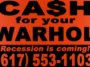 Art Print by Cash For Your Warhol - Recession Is Coming! - Orange Edition