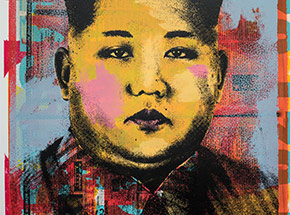 Art Print by Cash For Your Warhol - Monoprint V - CFYW Kim Jong-un