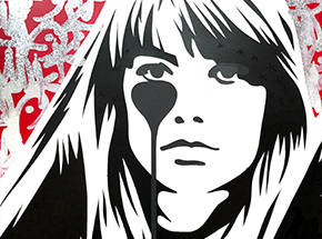 Art Print by Pure Evil - 07 Hand-Finished Variant - Françoise Hardy - Jacques Dutronc's Nightmare - Red & Black Edition
