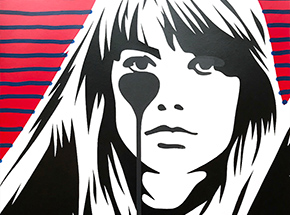 Art Print by Pure Evil - 08 Hand-Finished Variant - Françoise Hardy - Jacques Dutronc's Nightmare - Red & Black Edition