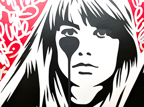 Art by Pure Evil - 10 Hand-Finished Variant - Françoise Hardy - Jacques Dutronc's Nightmare - Red & Black Edition