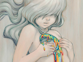 Art Print by Camilla d'Errico - Beyond The Rainbow