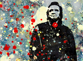 Art by Bobby Hill - Johnny Cash With Guitar
