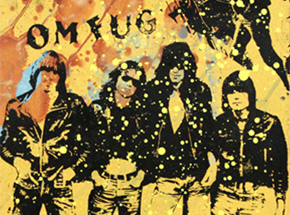 Art by Bobby Hill - The Ramones at CBGB