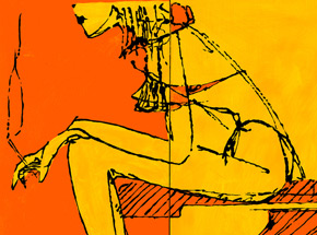 Art Print by Camilo Pardo - Sitting Seven
