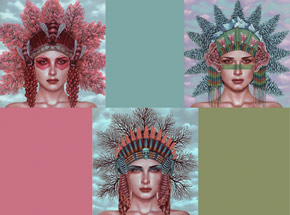 Art Print by Casey Weldon - Headdresses - 3 Print Set