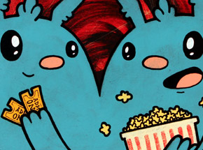 Original Art by Kill Taupe - Movies & Popcorn