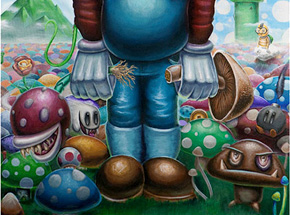 Original Art by Jordan Mendenhall - Mushroom Kingdom Original Painting