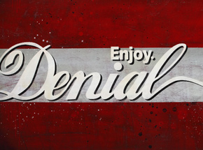 Original Art by Denial - - Enjoy Denial Wood Panel -<br>