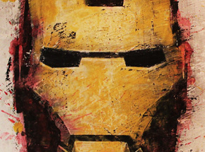 Art Print by Bask - Iron Man 3 - Box Office Edition - Framed
