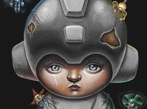 Art Print by Jordan Mendenhall - Megaman - Grey Edition