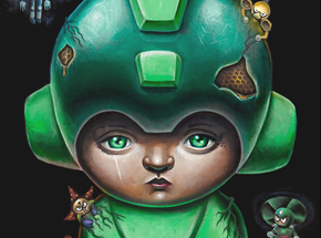 Art Print by Jordan Mendenhall - Megaman - Green Edition