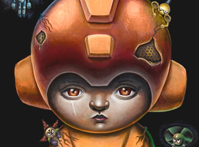Art Print by Jordan Mendenhall - Megaman - Orange Edition