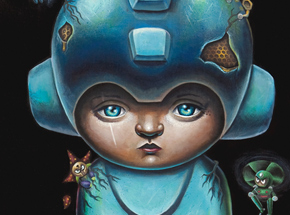 Art Print by Jordan Mendenhall - Megaman - Blue Edition