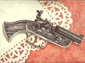 Original Art by Mary Williams - The Duel
