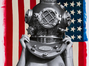 Art Print by Victor Spinelli - Diver UP! Yank