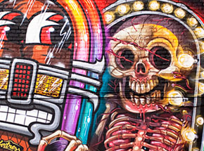 Art Print by Nychos & Flying Fortress - Detroit Rock City